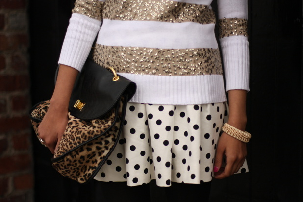 natalie-goel-sequin-sweater-zara-skirt