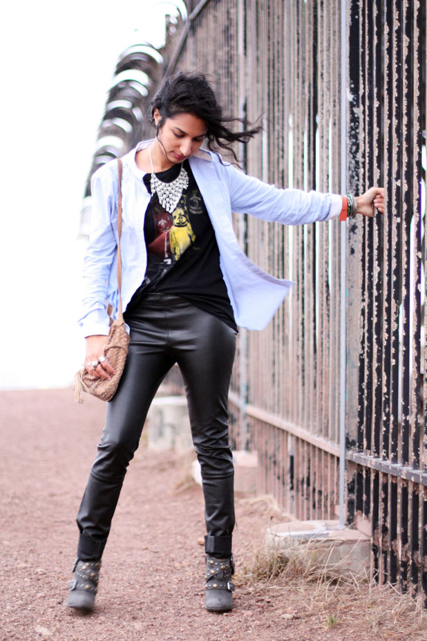 leather-pants-button-down