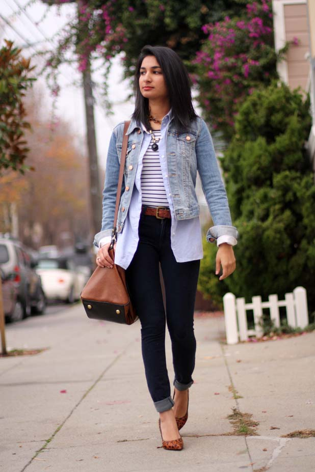 Jean Jacket And Dress Outfit