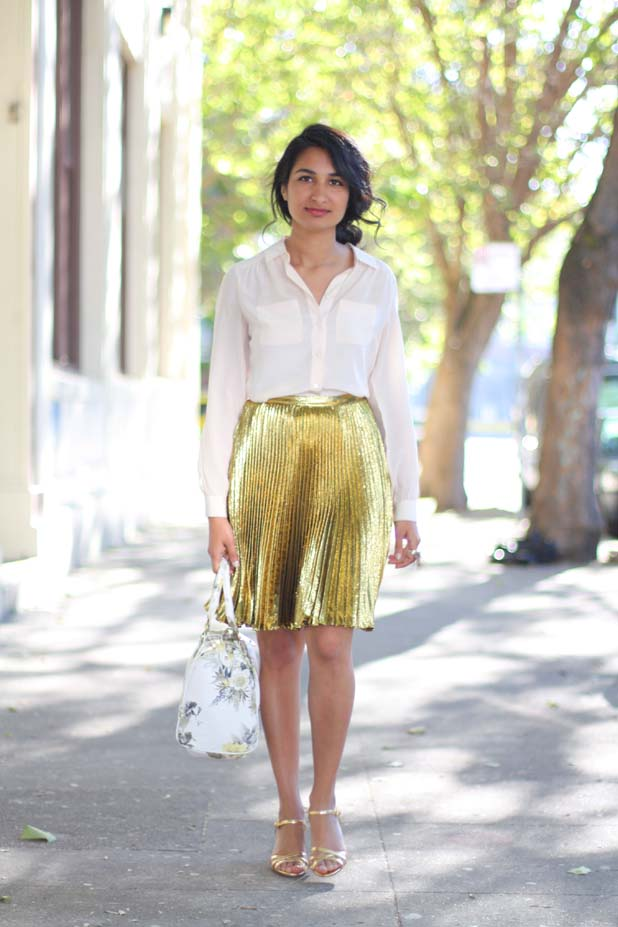 gold-skirt-elie-tahari