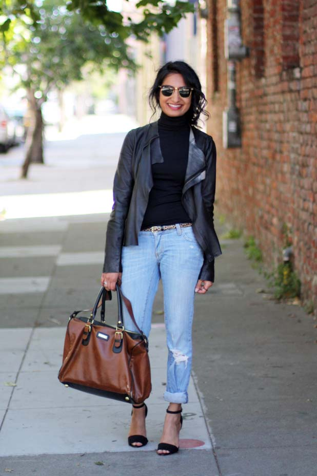 how-to-wear-boyfriend-jeans-leather-jacket