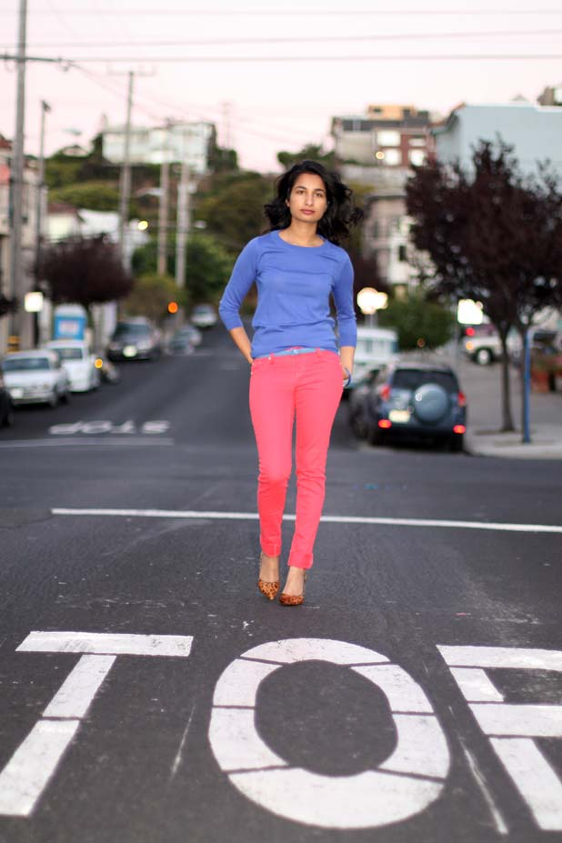 colored denim outfit http://www.likefreshlaundry.com