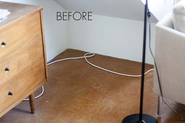 How to hide cords on the floor
