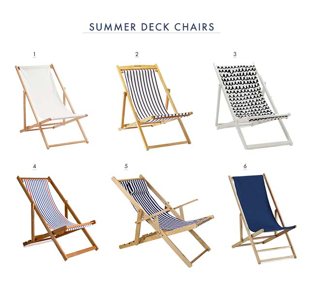sling deck chairs