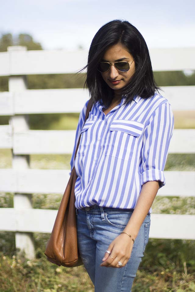 Equipment Slim Signature Silk Stripe Shirt | Like Fresh Laundry
